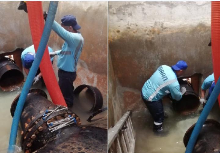 Idaan: Avanzan trabajos de cambio de válvula en Gonzalillo