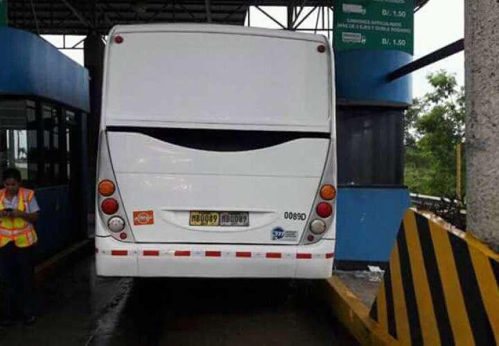 Basura que nadie recoge y buses
