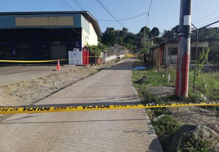 Lugar del crimen en Las Garzas.