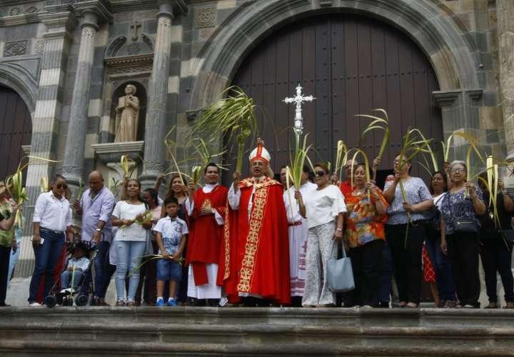 Celebración del Domingo de Ramos en la Catedral. Foto/ Edwards Santos