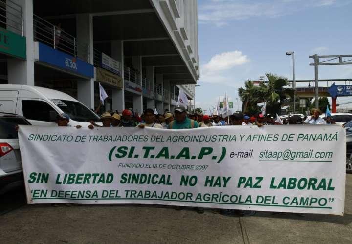 Trabajadores protestan en Mitradel y piden diálogo con ministra Zapata
