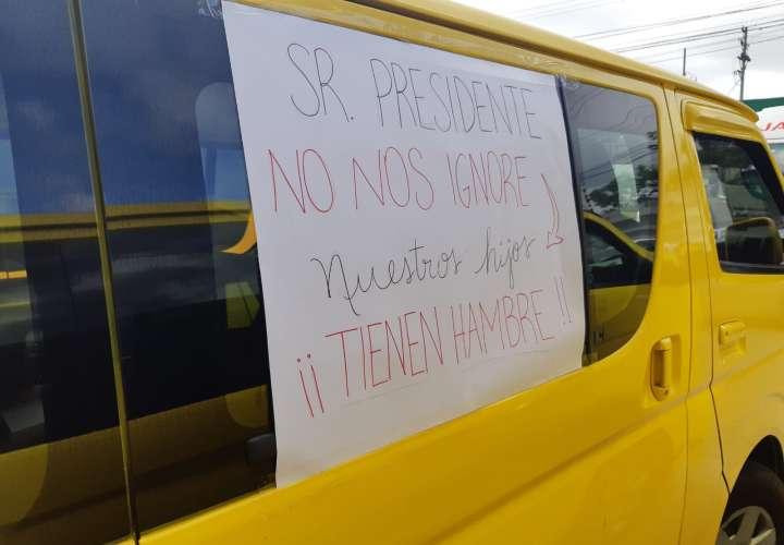 Busitos colegiales realizan caravana para pedir subsidio al Gobierno [Video]