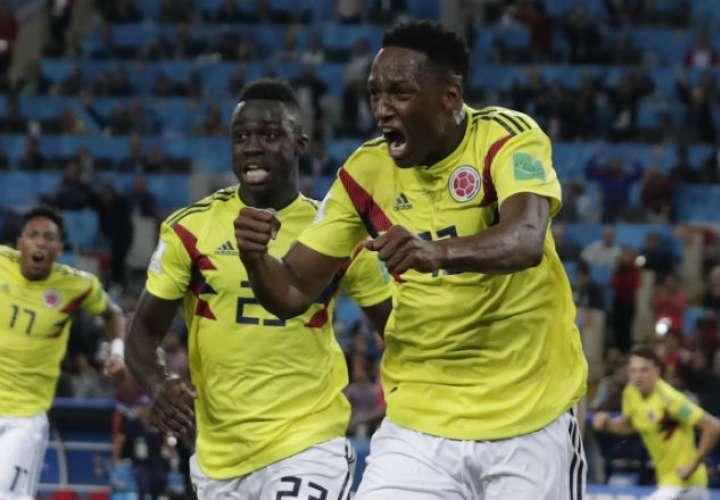El jugador Yerry Mina lleva tres goles en el Mundial. Foto: AP