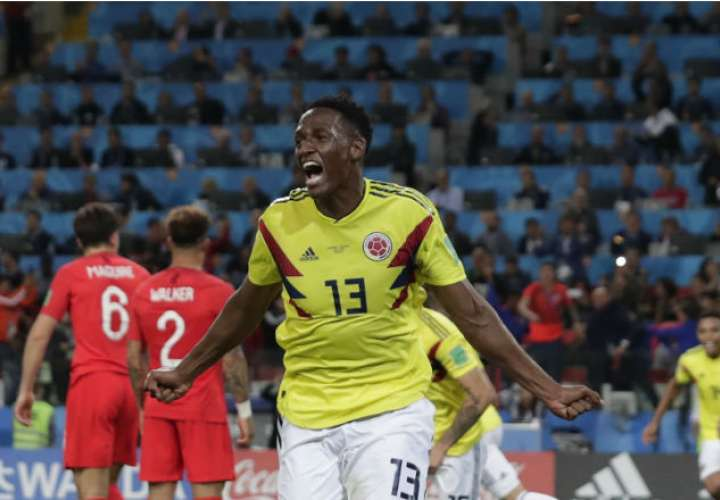 El jugador colombiano Yerry Mina. Foto:AP