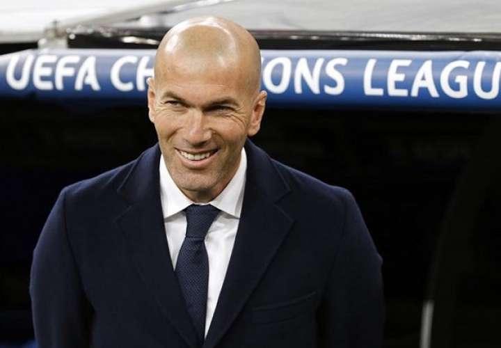 Zinedine Zidane ganó tres Champions seguidas con el Real Madrid./EFE