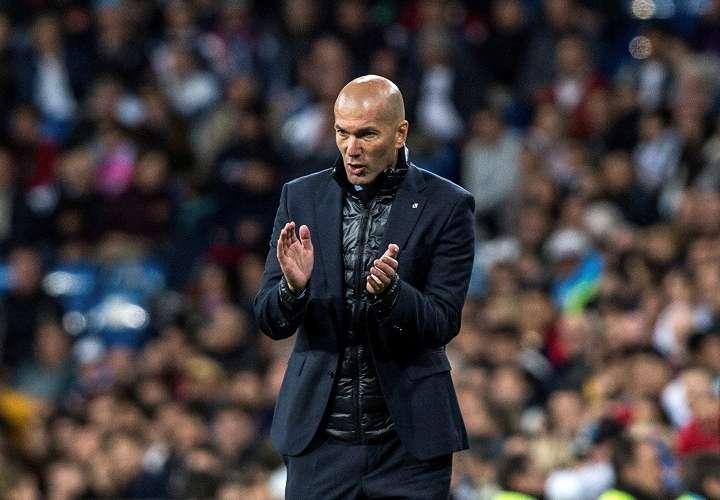 Zinedine Zidane, durante el partido de la trigésimo séptima jornada de Liga. Foto: EFE