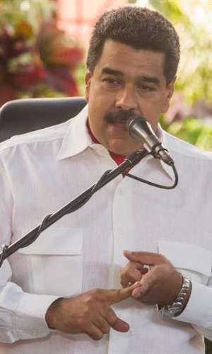 El presidente de Venezuela, Nicolás Maduro, habla durante un acto de gobierno el 2 de febrero del 2017, en Caracas (Venezuela). EFE/Archivo