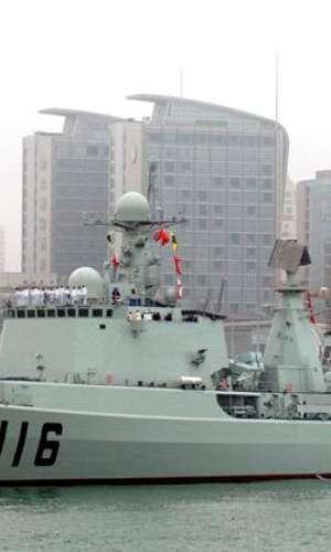 El destructor chino 116 Shijiazhuang atracado en el Centro Olímpico de Vela de Qingdao (China). EFE/Archivo