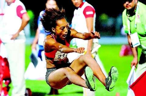 Nathalee Aranda es una de las atletas panameñas de alto rendimiento que busca su clasificación a los Juegos Olímpicos. Foto: EFE