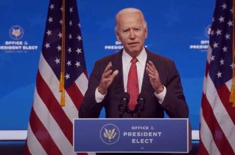 El presidente electo Joe Biden, tomará posesión el 20 de enero de 2021. FOTO/EFE