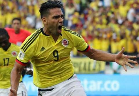 Radamel Falcao es una de las figuras importantes en la selección de Colombia. Foto EFE