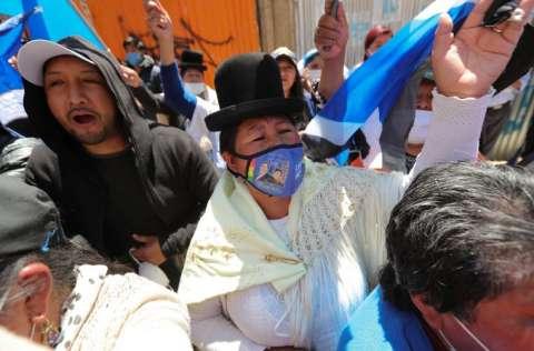 Bolivia celebró elecciones para elegir presidente, vicepresidente, diputados. FOTO/EFE