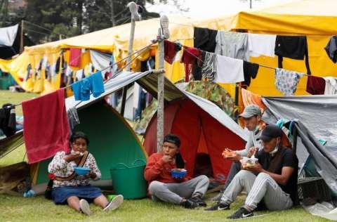 Los indígenas buscan un encuentro con el presidente Iván Duque. FOTO/EFE