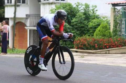 Christofer Jurado está en la posición N.°13 de la Vuelta a Guatemala. Foto: Cortesía