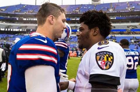 Josh Allen (i) y Lamar Jackson. Foto: AP