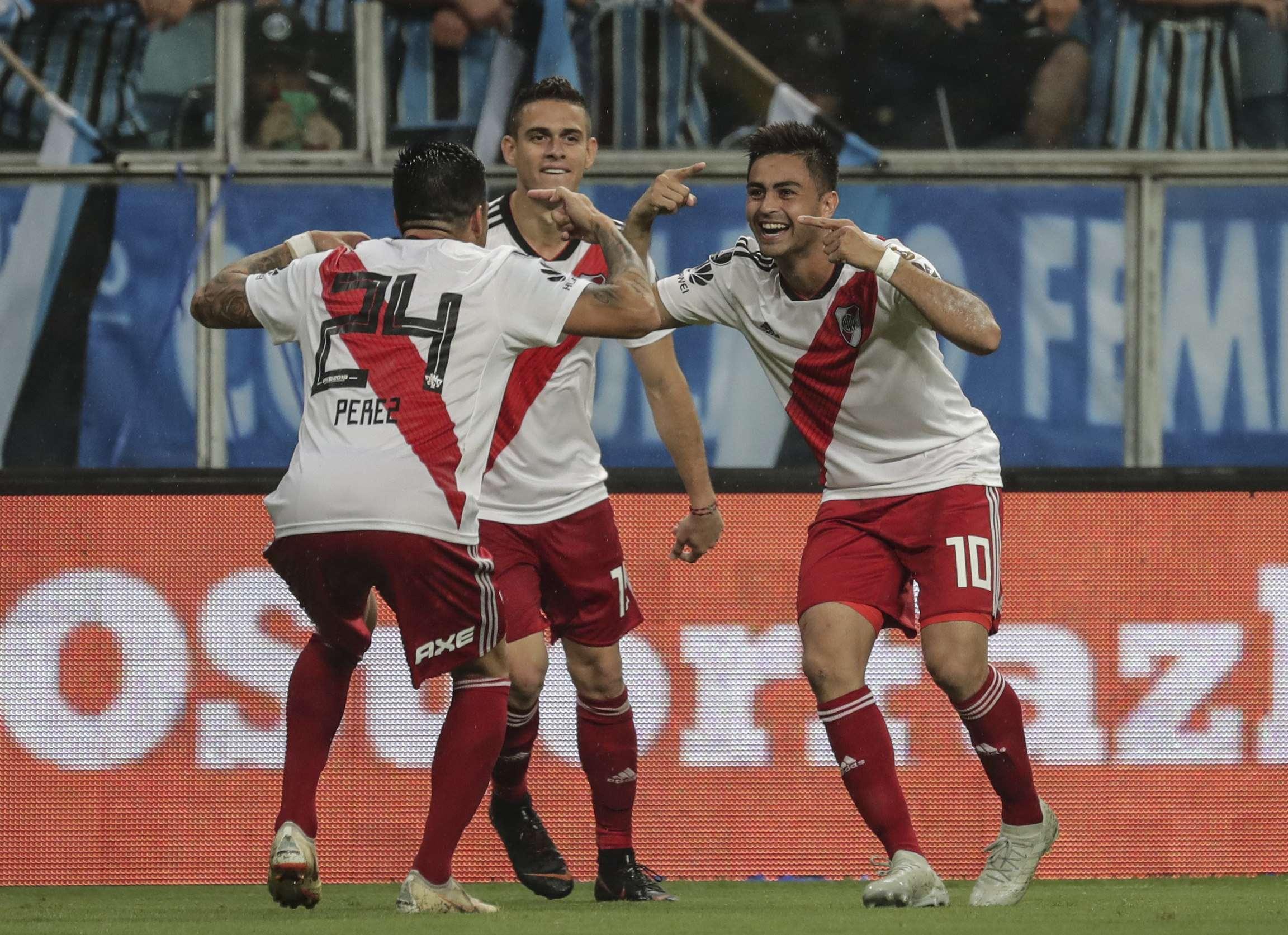 Los jugadores de River Plate festejan tras conseguir la clasificación. /EFE