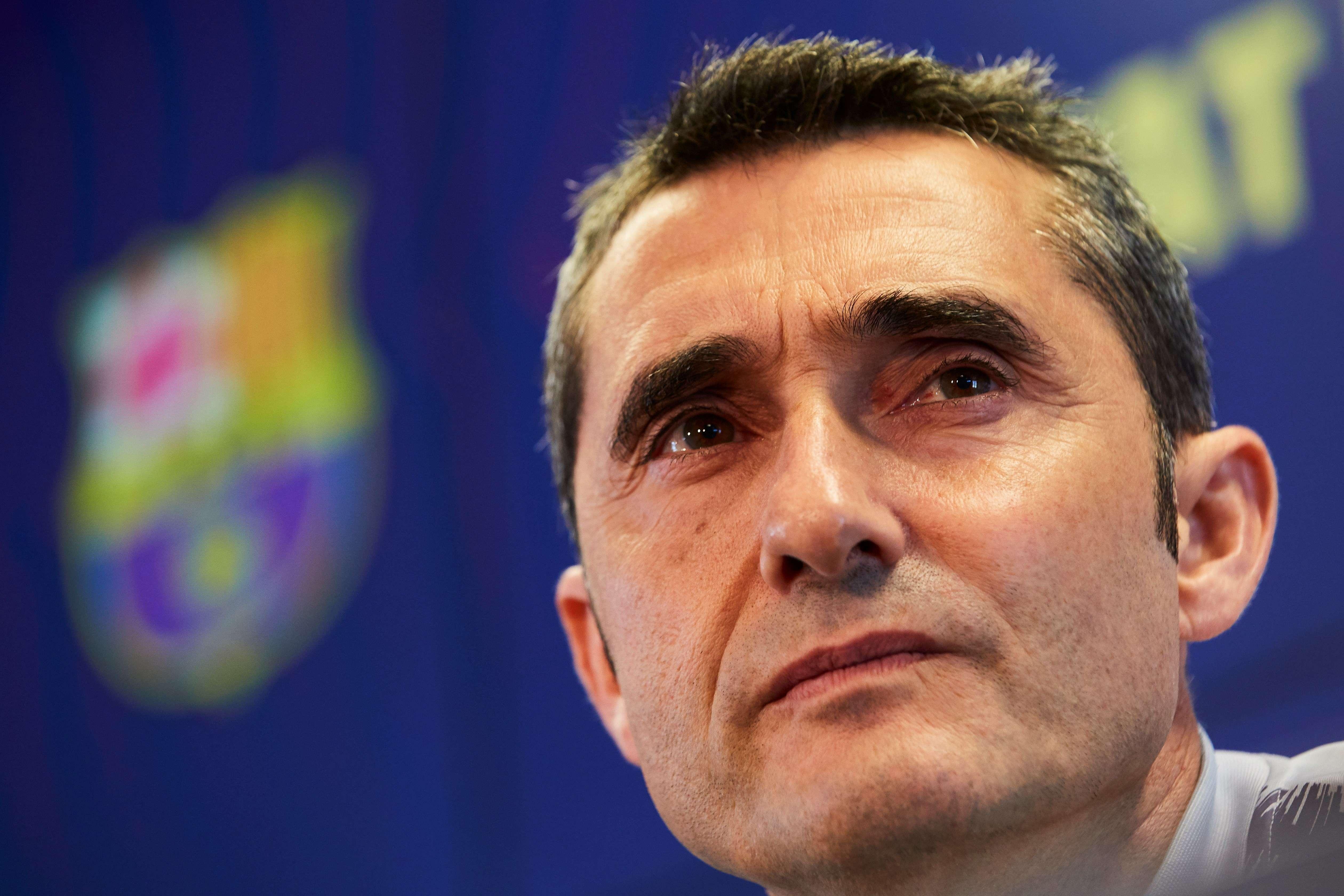 Ernesto Valverde, técnico del FC Barcelona. / EFE