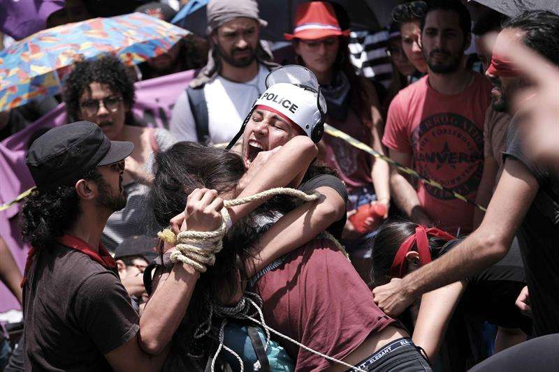 Protestas en Costa Rica. Foto/EFE