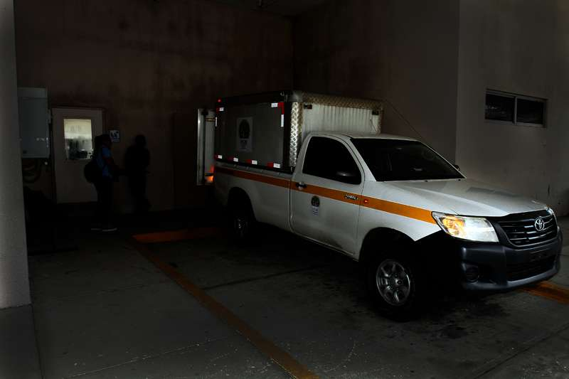 Vista externa de la parte externa del cuarto de urgencias del Hospital Irma Lourdes Tzanetatos.  Foto: Edwards Santos
