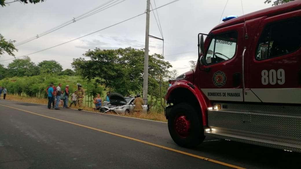 Accidente de tránsito en carretera Las Tablas - Tonosí