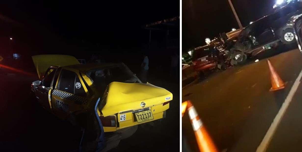 Vista parcial de los accidentes en Arraiján y La Chorrera. Fotos: @TraficoCPanama