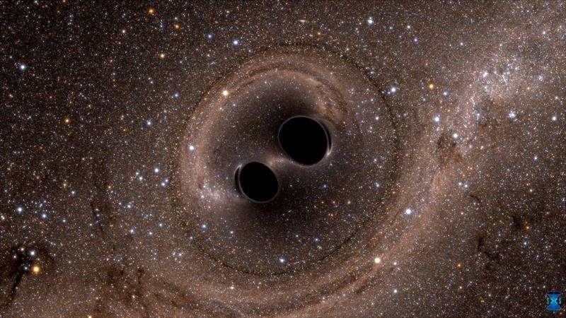 Un equipo científico detectó las ondas gravitacionales que resultaron de la mayor colisión de agujeros negros jamás observada y que formó un nuevo agujero negro 80 veces más grande que el sol.  EFE
