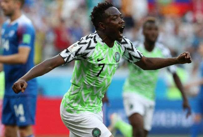 El goleador nigeriano Ahmed Musa. Foto:EFE