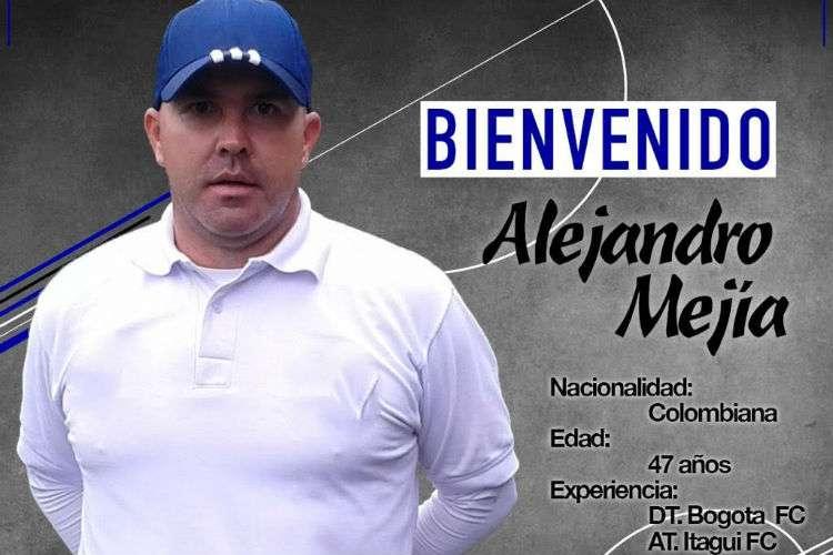 Alejandro Mejía, nuevo técnico del Árabe Unido de Colón.