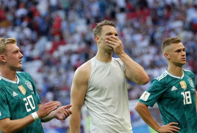 Alemania no había sido eliminada en una primera ronda desde el mundial de 1938.