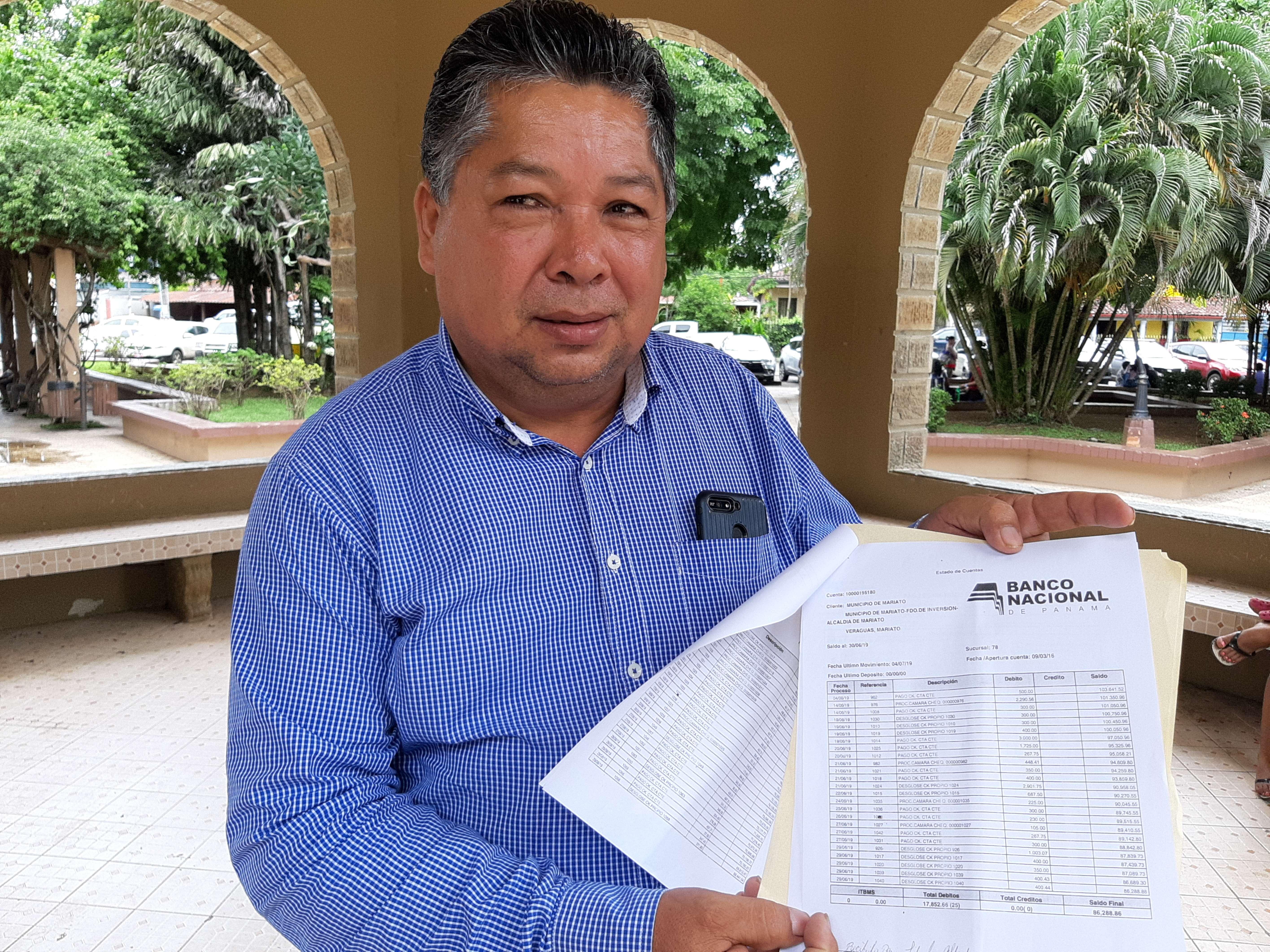 Ángel Batista, exalcalde del distrito de Mariato. foto: Melquiades Vásquez