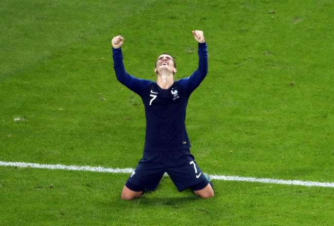 El jugador de Francia Antoine Griezmann. Foto:AP