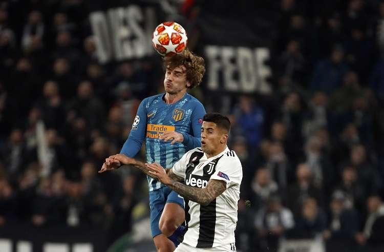 """Antoine Griezmann declaró que en """"todos los sentidos"""" la Juventus fue superior. Foto: AP"""