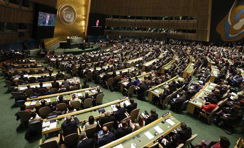 Vista general de la Asamblea General de la ONU celebrada en Nueva York (Estados Unidos). EFE/Archivo