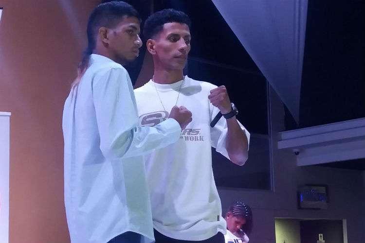 """Azael """"Candelilla"""" Villar (izq.) y Jerson Ortiz pelearán en la estelar de la función. Foto: Joel Isaac González"""