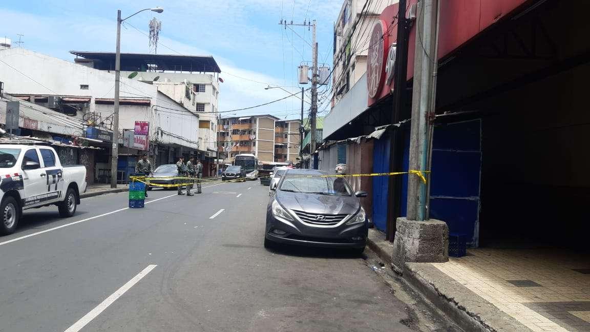 Vista general del área donde ocurrió el ataque armado en Calidonia. Foto: @TraficoCPanama