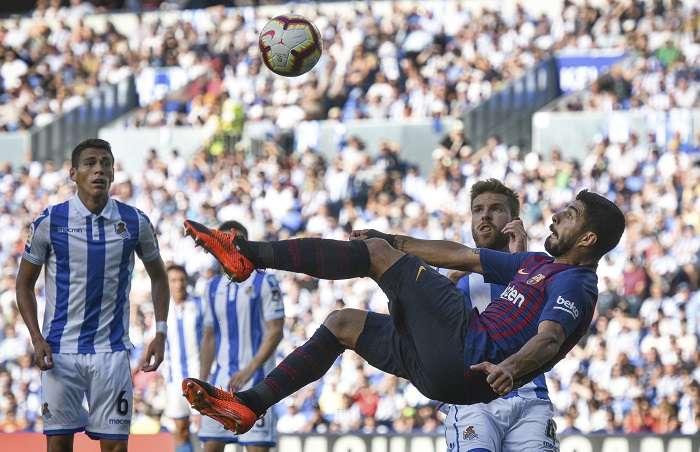 Luis Suárez marcó para los azulgranas./ AP