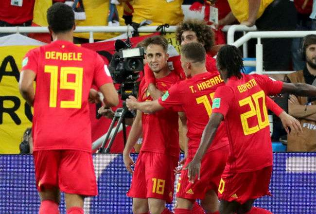 La selección de Bélgica clasificó a los octavos de final con nueve puntos. Foto:EFE