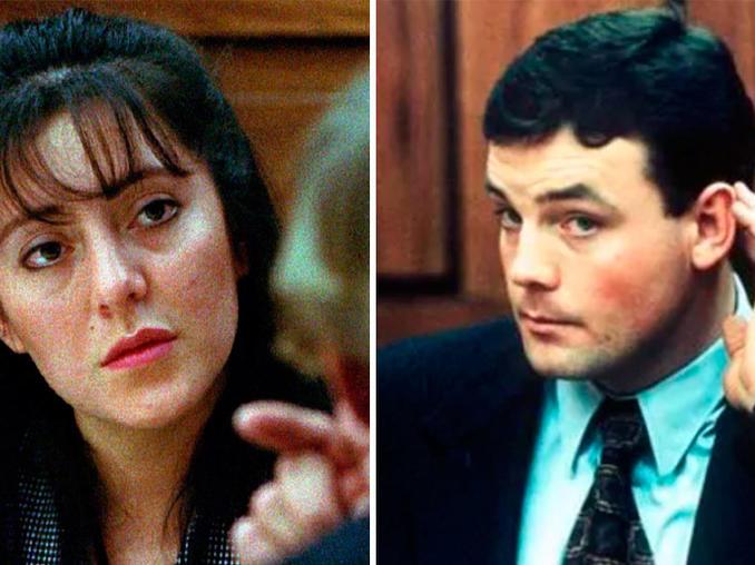 Lorena y John cuando participaban del juicio por el caso en 1993