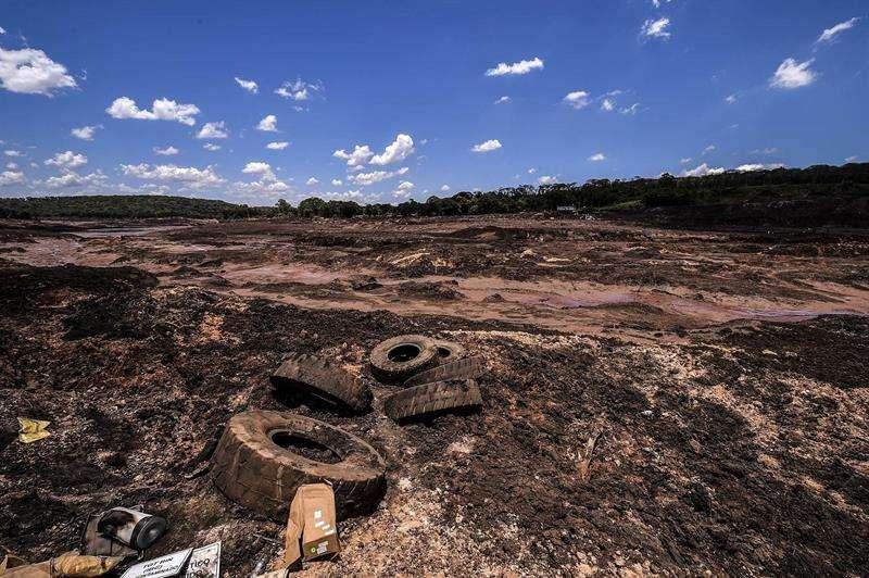 Vista este miércoles de los desastres causados por la ruptura de una represa de Vale, en Brumandinho (Brasil). EFE