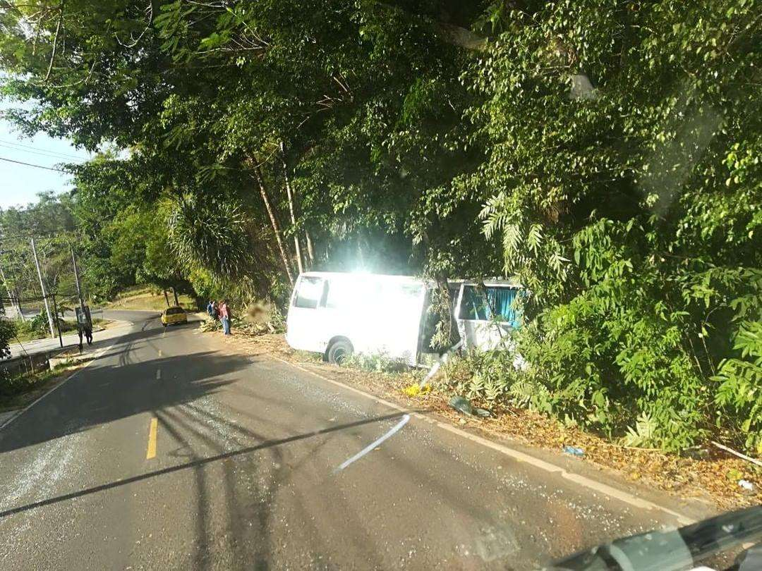 Vista general del lugar del accidente. Foto: @TraficoCPanama