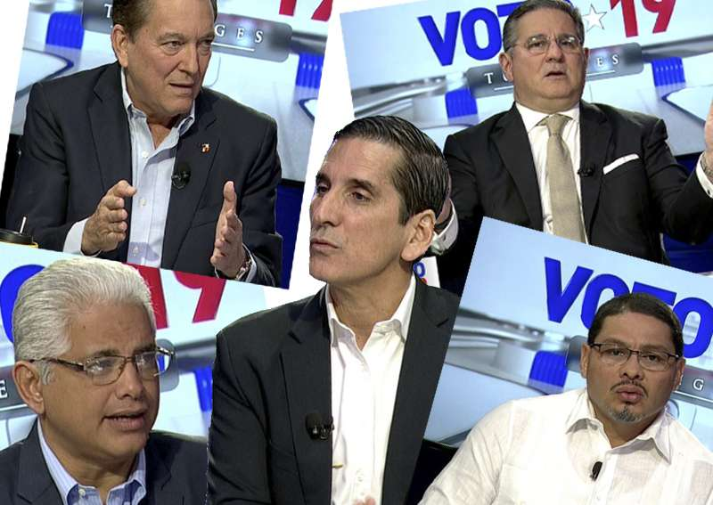 Candidatos presidenciales. Foto: Telemetro