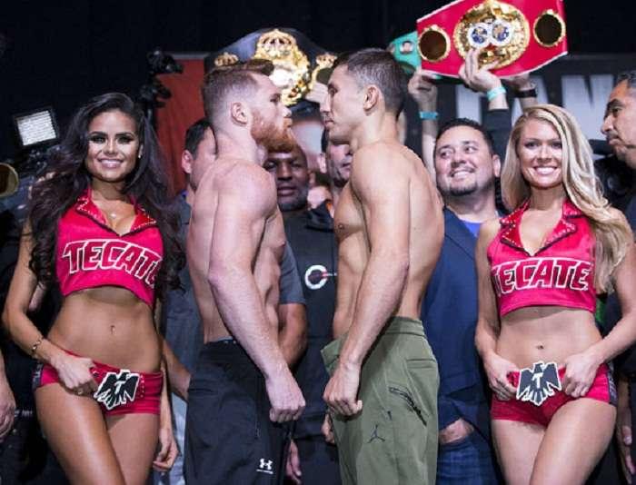 Los dos boxeadores debían pelear en Las Vegas en mayo pasado, pero el combate fue cancelado después de que Álvarez diera positivo. Foto: Internet