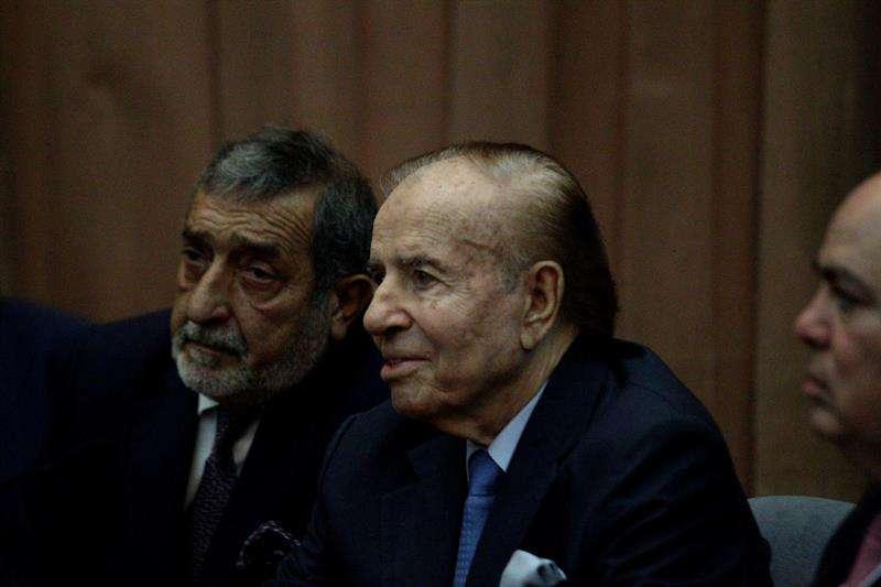 Fotografía de archivo del expresidente Carlos Menem (1989-1999). EFE/Archivo
