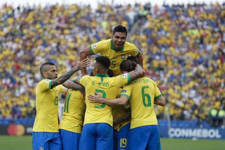 Casemiro anotó uno de los tantos de Brasil. Foto: AP