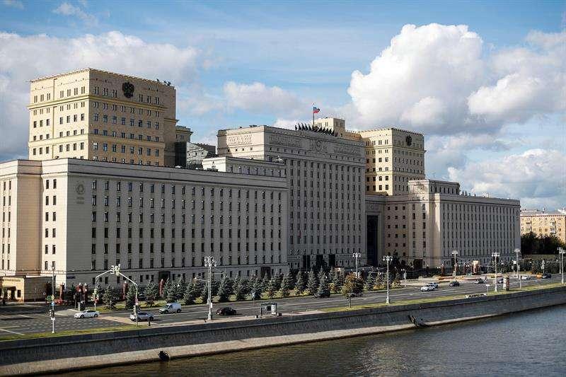 Vista general del Centro de Control de Defensa Nacional, edificio principal del Ministerio de Defensa y de las Fuerzas Armadas rusas, en Moscú, Rusia, hoy, 18 de septiembre de 2018. EFE