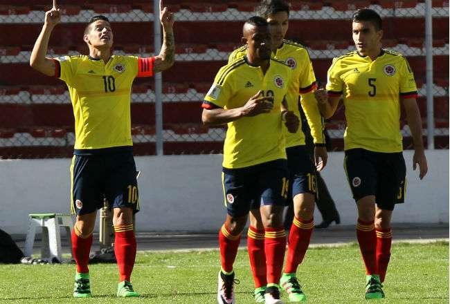 Jugadores de la selección de Colombia. Foto: EFE