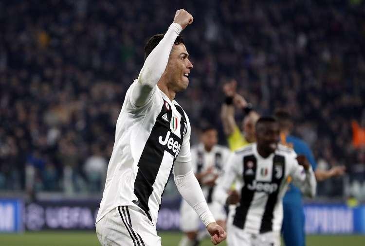 Cristiano Ronaldo  festeja uno de sus goles ante el Atlético de Madrid. Foto: AP