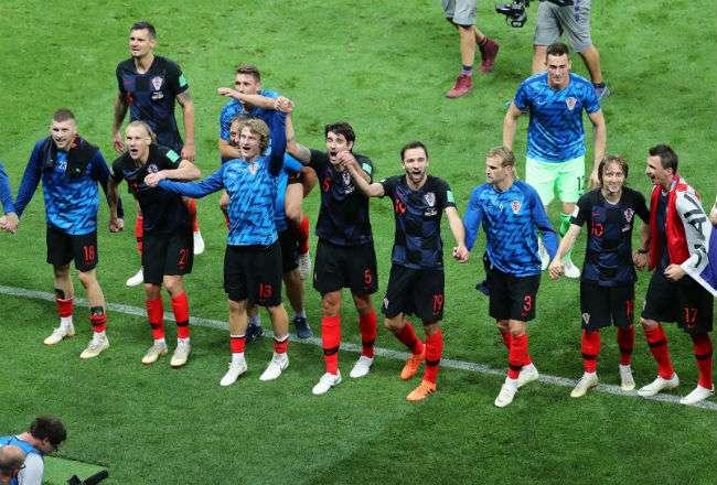 La selección de Croacia eliminó a Inglaterra en la semifinal. Foto: EFE