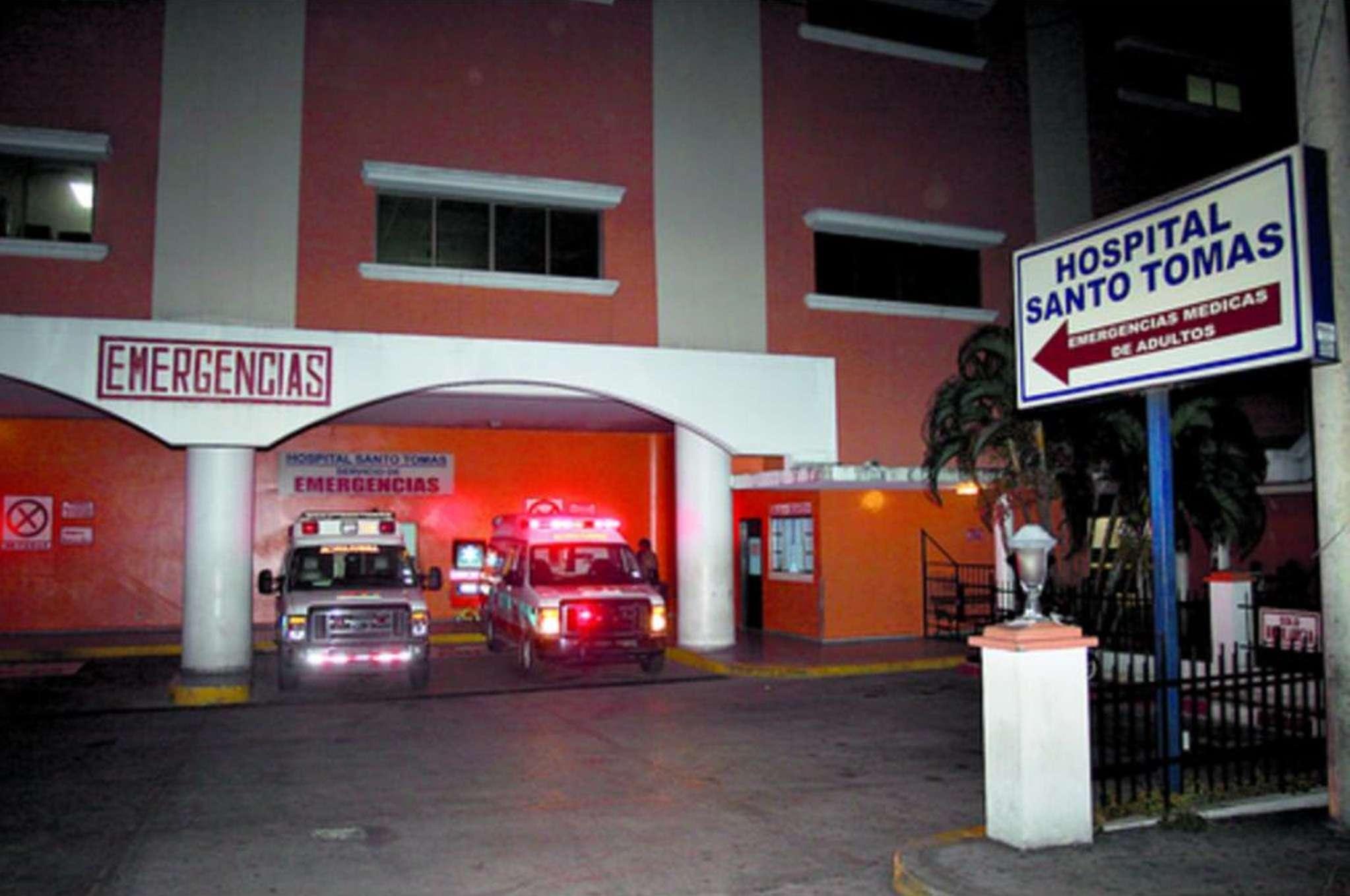 Cuarto de urgencias Hospital Santo Tomás. Foto: Archivo