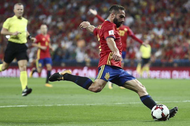 El defensa de la selección española Dani Carvajal sueña con jugar el Mundial de Rusia 2018. Foto EFE
